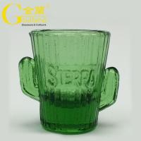 China Customized Green Cactus Cup Cactus Shot Glass coloed short glasses wholesale
