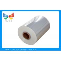 China 40mic Shrinkable Clear PVC Shrink Label Wrap Film For Wrapping And Printing Label wholesale
