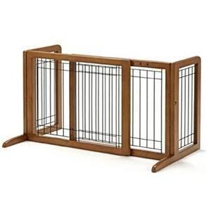 China Free Standing Dog Gates, Wood PET Gates on sale