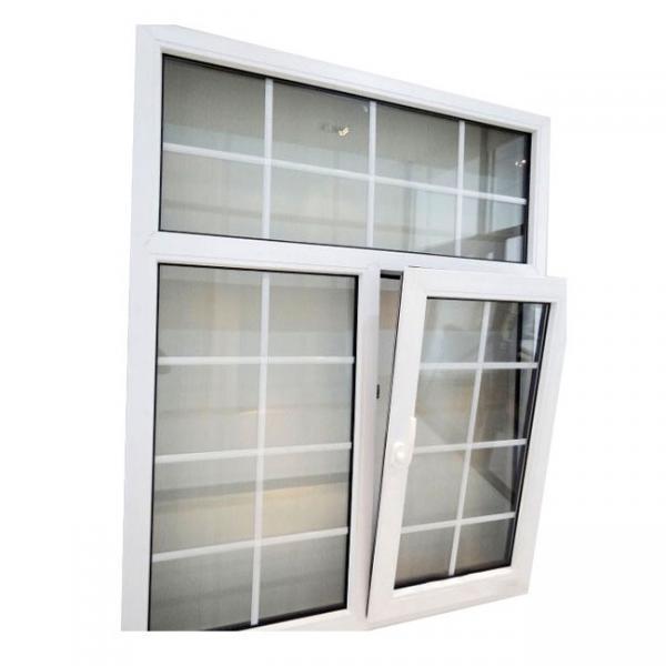 Quality PVC Windows Grill Design Double Glazed Glass Energy Saving Profile for sale