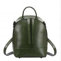 China Vintage School Bag Cowhide Backpacks for Women Newest Genuine Cow Leather Double Shoulder Bags wholesale