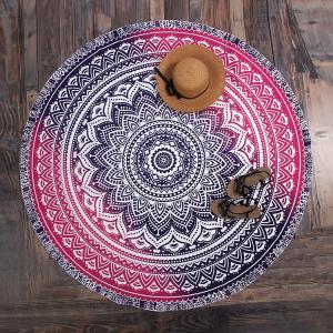 China Small MOQ Custom Print 150CM Polyester Chiffon Voile Shawl Scarf round beach sarong on sale
