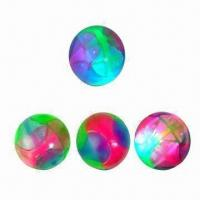 China Flashing Rainbow Bouncing Ball with 5.5cm Diameter, Available in Various Designs on sale