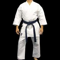China Custom Heavyweight White Karate Uniform Gi in Polyester Cotton wholesale