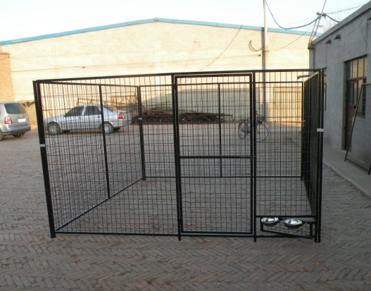 Quality hot dipped galvanized dog@ 10X10X6ft Temporary Dog Fence For Sale Galvanized Chain Link Dog Kenne for sale