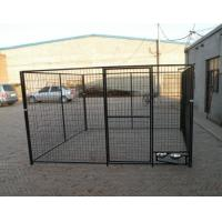 China 1.5m x 2.0m x 2.0m full hot dipped galvanized dog 10X10X6ft Temporary Dog Fence For Sale Galvanized Chain Link Dog Kenne wholesale