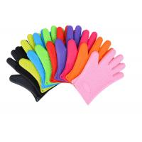 Buy cheap Anti - Dust Silicone Bbq Gloves , Heat Resistant Oven Gloves With Fingers from wholesalers