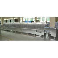 Long chain Stainless Steel Commercial Dishwasher ECO-L960CP3H3 56KW / 92KW for Staff Restaurants