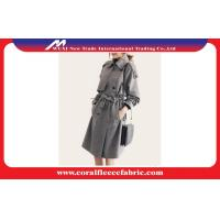 China Fashion Autumn Ladies Long Trench Jacket With Gray Latticed Pattern wholesale
