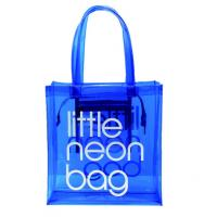 China Eco Friendly Jelly Handbags Candy Color , Transparent PVC Clear Beach Tote Bag wholesale