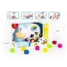 China Educational Shape Sorting Matching Baby Blocks Toys Car Set 9Pcs PP Plastic Material wholesale