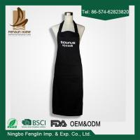 China Deconovo Chef Cotton Kitchen Solid Color Apron with Pockets and Adjustable Neck Straps wholesale
