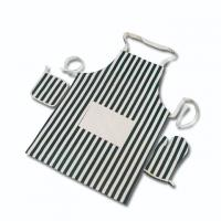 China Stripped Pattern Cotton Kitchen Aprons Casual Style Custom Cooking Apron wholesale