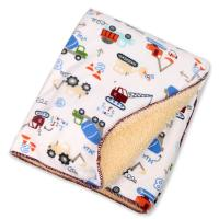 China Eco - Friend Customized Lightweight Polyester Baby Blanket Warped Knitting on sale