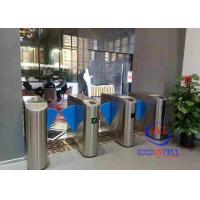 China OEM/ODM Stainless Steel Access Control System High Speed electric flap turnstile flap barrier for restaurant hall wholesale