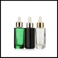 Buy cheap Liquid Essential Oil Dropper Bottles 30ml Flat Shoulder Colorful Glass Essence from wholesalers