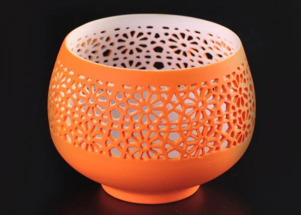 Quality hollow bowl design ceramic porcelain candle vessels candle container for sale
