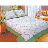 China Plain Color Floral Bedding Sets Silky Soft Touch For Home And Hotel wholesale