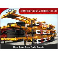 China 40 Feet Flatbed Skeleton Shipping Container Trailer Mechanical / Air Suspension wholesale