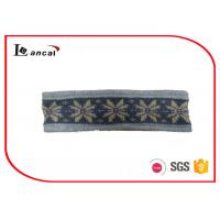 China Winter Warm Knitted Snood Scarf With Fleece Lining And Jacquard Design wholesale
