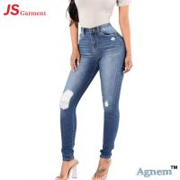 China Fashion Summer Casual Jeans Pants For Womens Breathable Mid Waist on sale