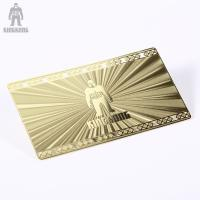 China Innovative Brass Personal Metallic Gold Business Cards Different Pattern Option wholesale