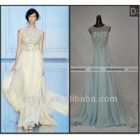 China Surmount Real Pictures Elie Saab Sleeveless Beaded Flowing Chiffon Evening Dresses For Sale wholesale
