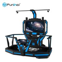 China Blue With Black High Disposition Htc VR Space Platform  with 1 player 9d Virtual Shooting Simulator wholesale
