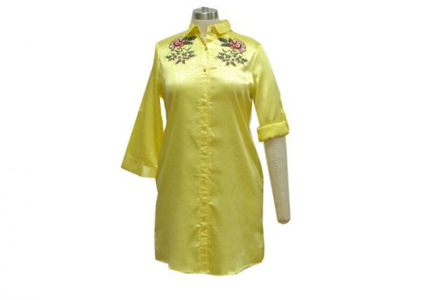 Quality 100% Viscose Plaid Sleep Shirt Dress , Button Down Sleep Shirts For Womens for sale