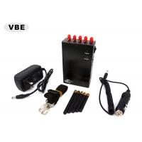 China Black / Golden Handheld Signal Jammer 110 - 220VAC For Police Authorities wholesale