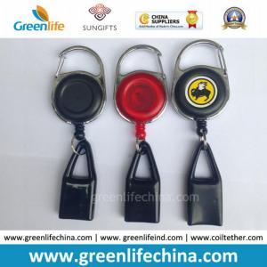 China Carabiner Round Badge Holder W/Black Lighter Holder High Quality on sale