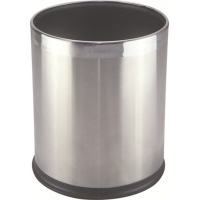 China Stainless Steel Cover Guest Room Plastic Dustbin Waste Bins on sale