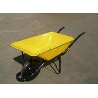 China wb6401 wheelbarrow wheel barrow hand trolley garden tool cart RUBBER WHEEL wholesale