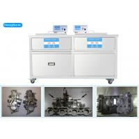 China 3 Phases 175 Liter Heated Ultrasonic Cleaner , Two Tanks Ultrasonic Cleaning Machine wholesale