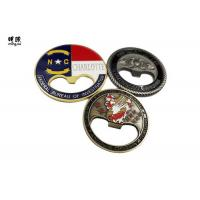 China Fashionable Coin / Round Beer Bottle Openers Soft Enamel Antique Tin Plating wholesale