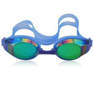 China 2014 new colorful mirror caoted silicone rubber swim goggles wholesale