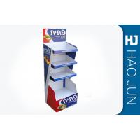 China Recyclable Printed Cardboard Display Stands For Snacks , Easy Assembly wholesale