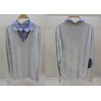 China Mens Wool Sweaters Spread Collar Twinset Long Sleeve Pullover Autumn wholesale