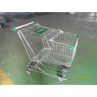 China Asian Style 180 Liter Steel Wire Shopping Trolley With Handle Logo wholesale