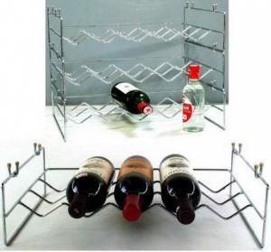 China Metal Wine Racks,Steel Wire Winebottle Shelfs wholesale