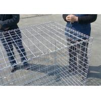 China Rust Proof Galfan Coated Welded Gabion Box , 30CM*50CM*1M Hot Dipped Galvanized Welded Stone Box on sale