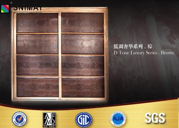 Quality Customized Bedroom PVC Wardrobe Sliding Door Design Eco Friendly for sale