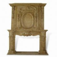 China Fireplace Mantel in Yellow, Customized Designs and Sizes are Accepted on sale