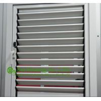 Operable Aluminum Alloy Louvers Windows For Apartment, White Color Frame Aluminum shutters