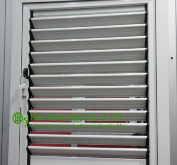 Quality Operable Aluminum Alloy Louvers Windows For Apartment, White Color Frame Aluminum shutters for sale