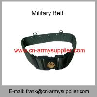 China Wholesale Cheap China Army PP Army Green Military Plastic Buckle Police Belt wholesale