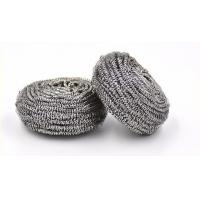 China Round Shape Stainless Steel Scourer , Steel Scouring Pad With Comfortable Handfeel wholesale