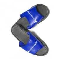 China Washable PVC Slipper Economic ESD Safety Shoes Color Blue Upper w/Black Sole wholesale