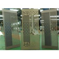 China Aluminum Stretched Perforated Exterior Decorative Panels For Supermarket / Subway wholesale
