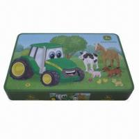 China Tin box for gift, used to pack toys and game cards wholesale